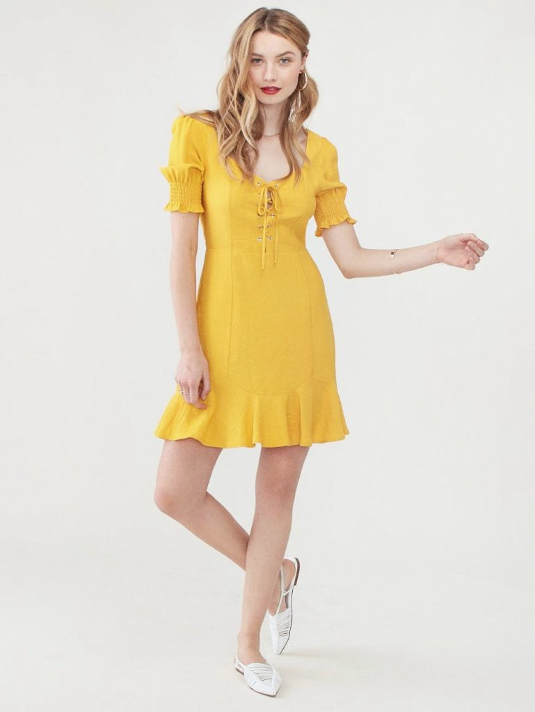 Lost + Wander Yellow Submarine Mini Dress $32.00