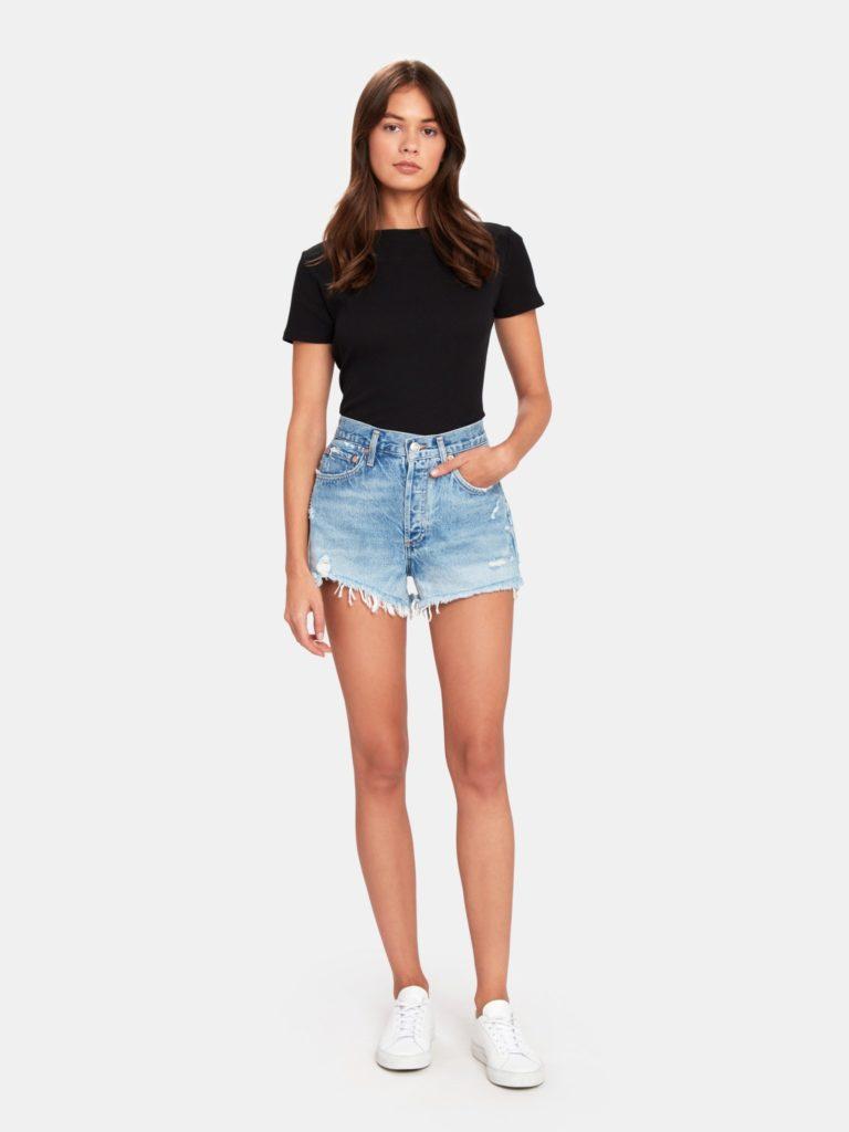 AGOLDE Parker Vintage Loose Cut Off Shorts $128.00