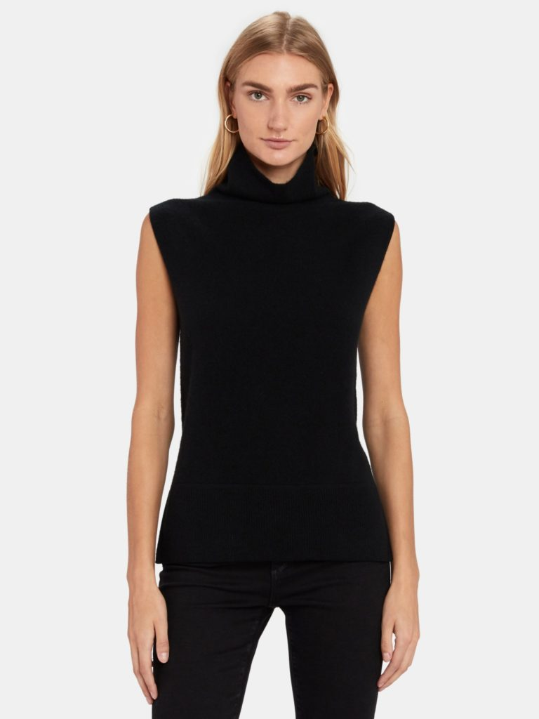 Naadam Sleeveless Cashmere Turtleneck Sweater $200.00