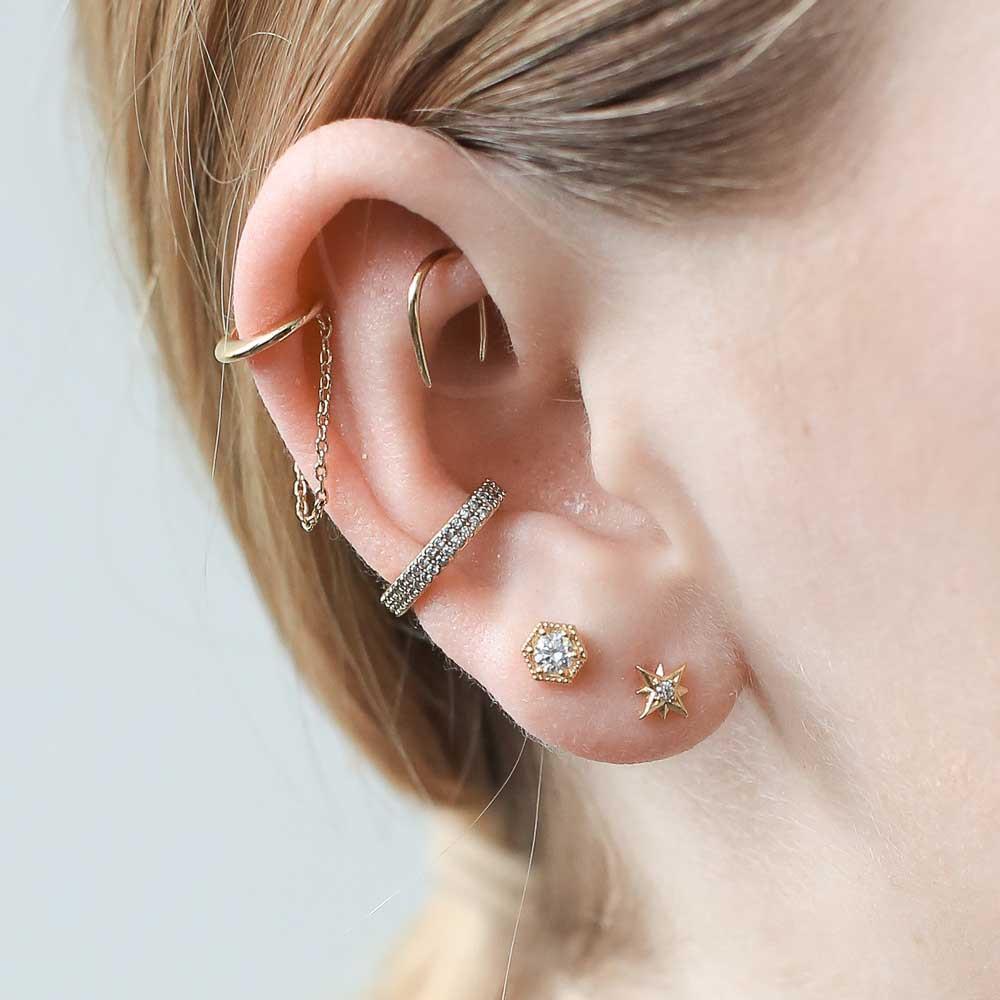 CLASSIC CHAIN EAR CUFF $34.00