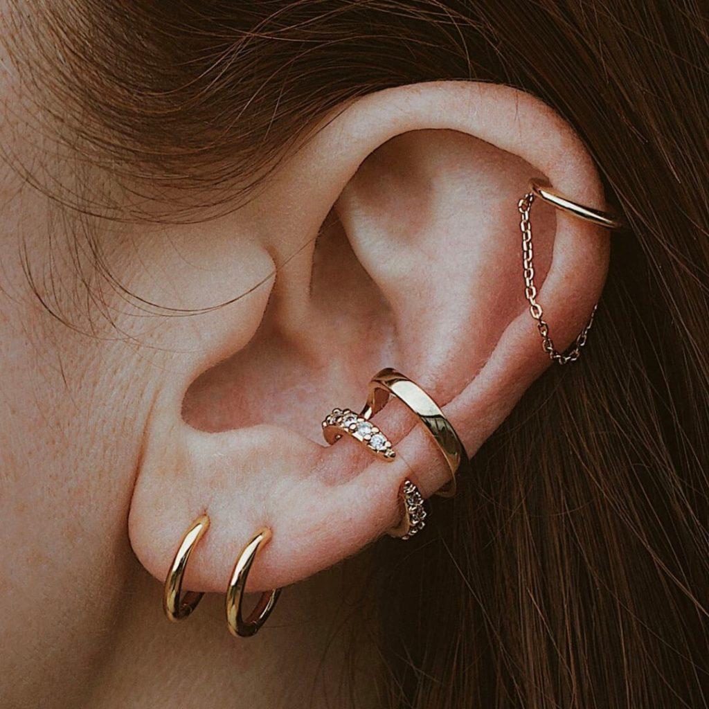 CRYSTAL CLAW EAR CUFF $39.00