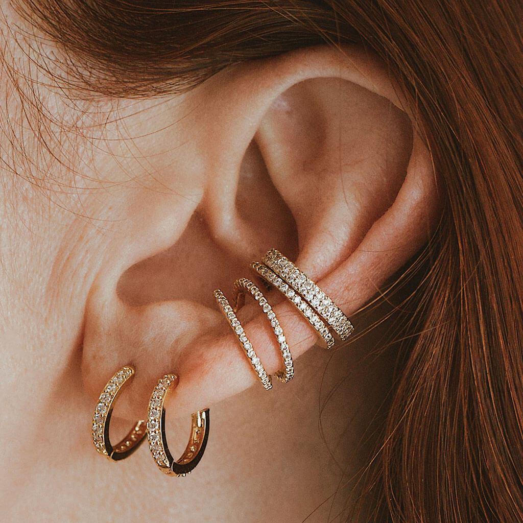 CRYSTAL EAR CUFF TRIO $112.00