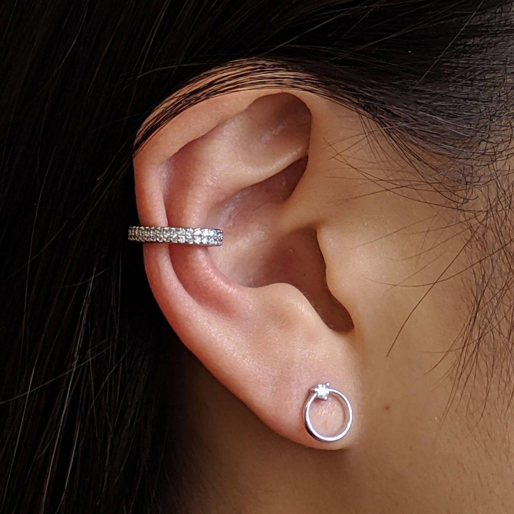 DOUBLE ETERNITY EAR CUFF IN STERLING SILVER $49.00