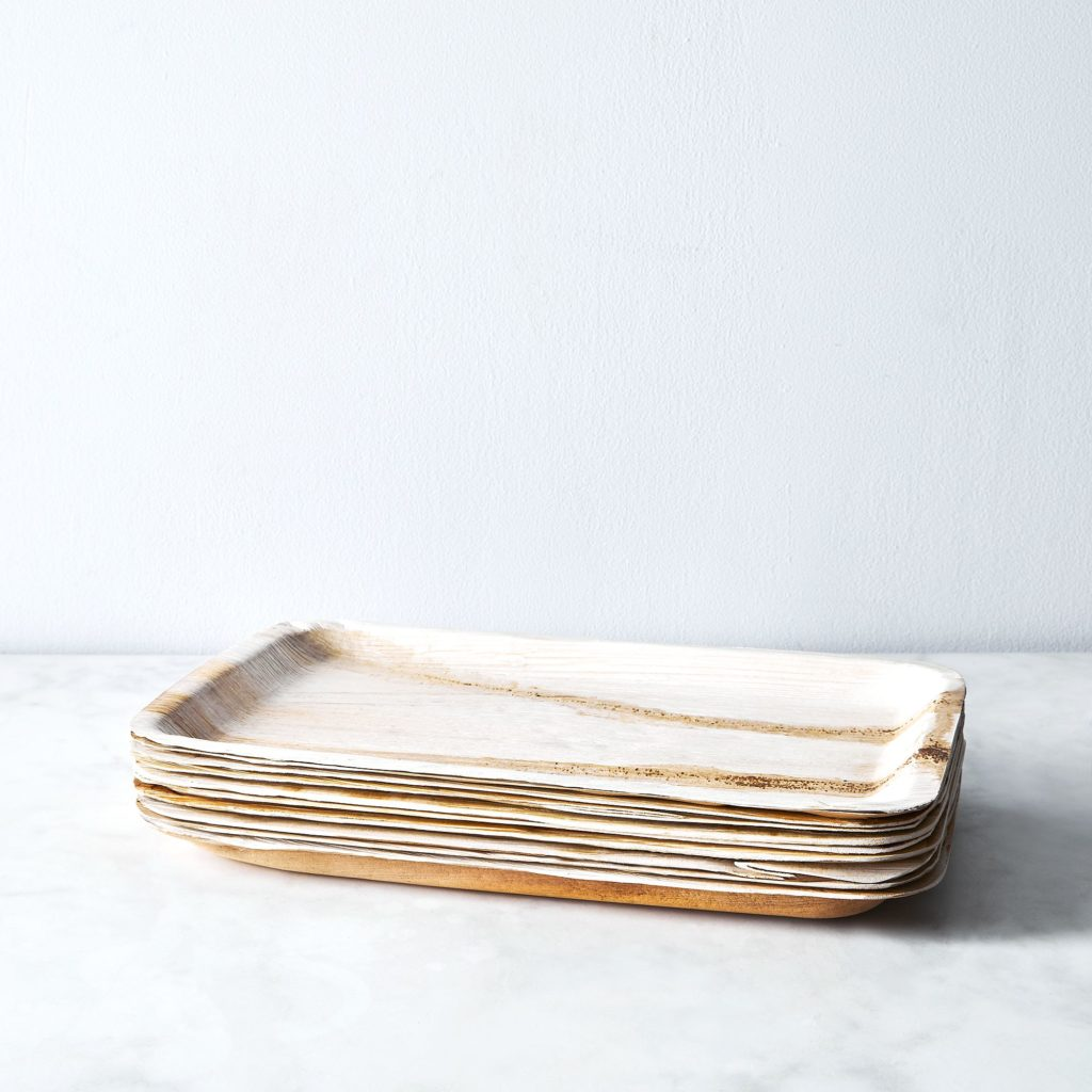 Verterra Compostable Serving Tray from Fallen Leaves (Set of 10) $33.00