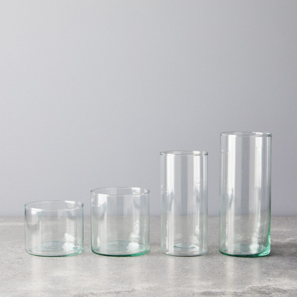 Handblown Recycled Glassware (Set of 4) $35–$45