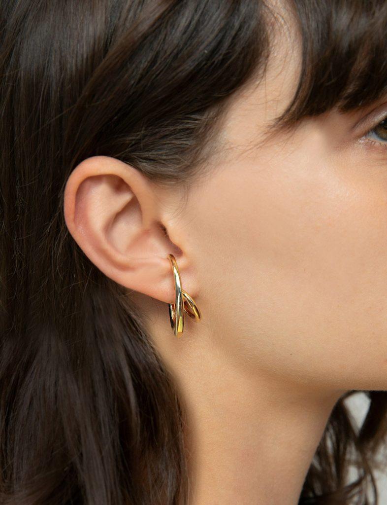 GOLD EAR CUFF EARRINGS $18.00