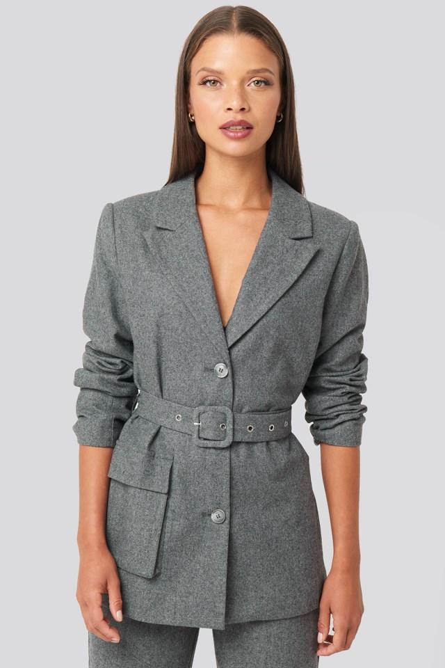 Patch Pocket Blazer Grey $83.95
