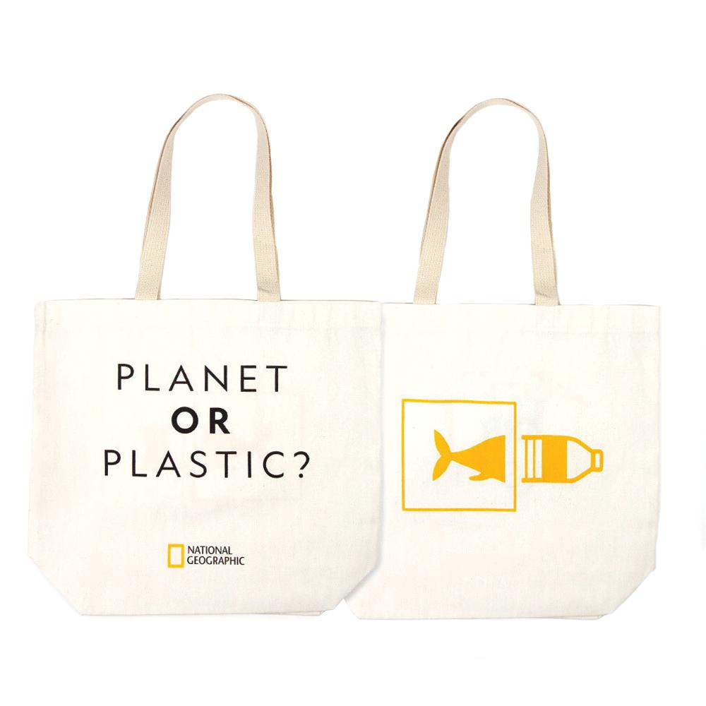 National Geographic Earthwise Bags Planet Or Plastic? Tote Bag $14.95