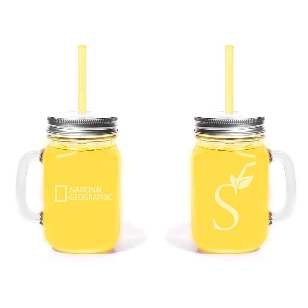National Geographic Simply Straws Mason Mug Combo $18.00