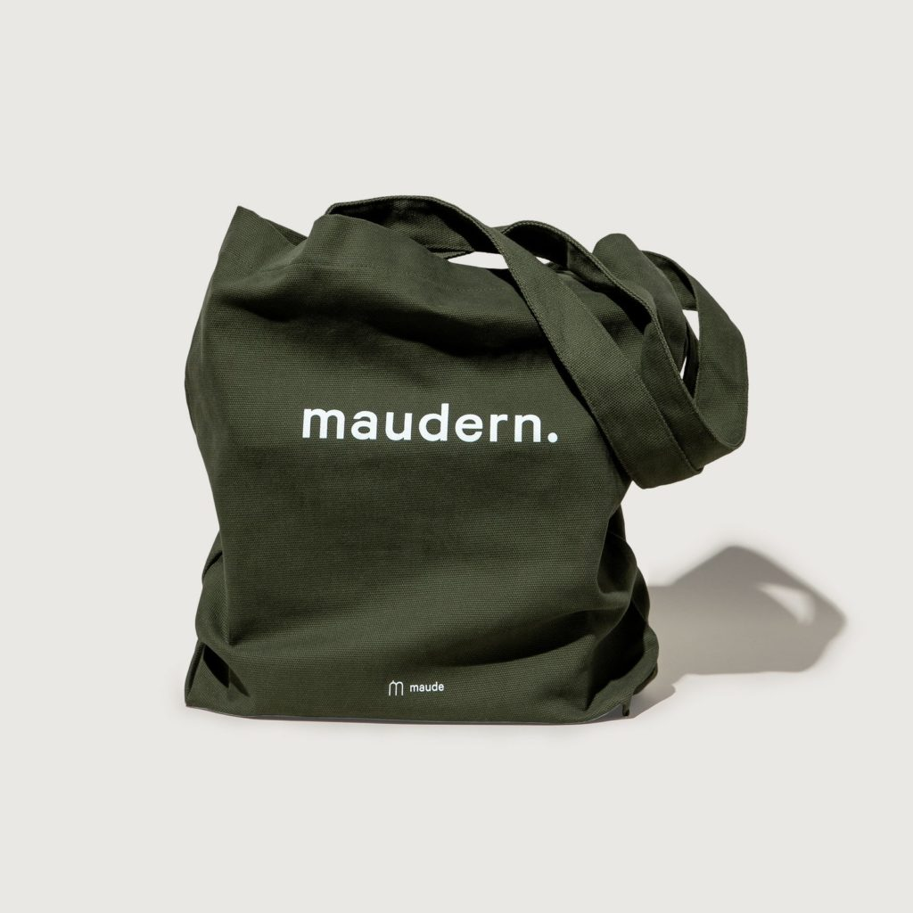 maudern tote mid-weight cotton canvas bag $20.00