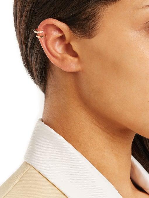 MARIA TASH Pearl & yellow-gold ear cuff$617