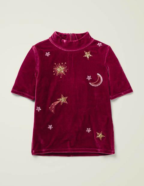 Embellished Velvet T-Shirt $25.20