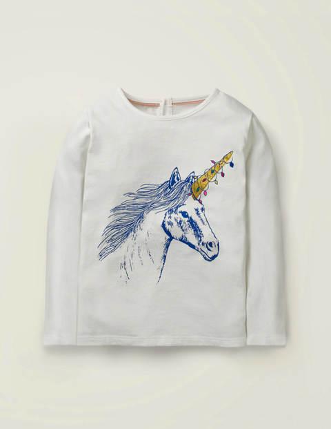 Festive Sparkle T-Shirt -Ivory Unicorn $11.00
