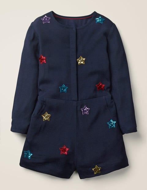 Star Playsuit -Navy Stars $45.00