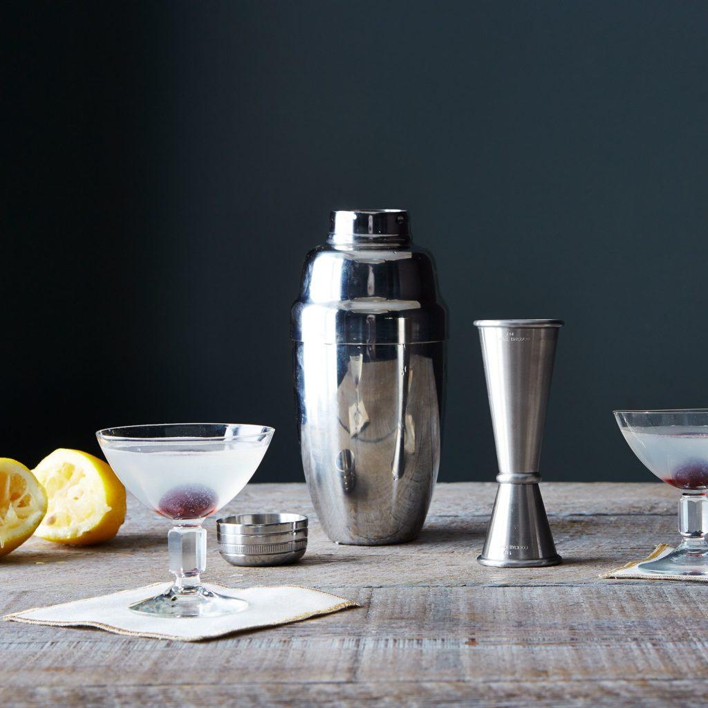 Stainless Steel Cocktail Shaker & Jigger $70