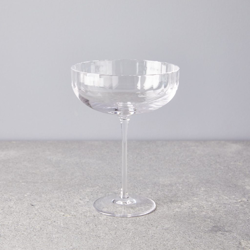 Fluted Crystal Cocktail Glasses $192