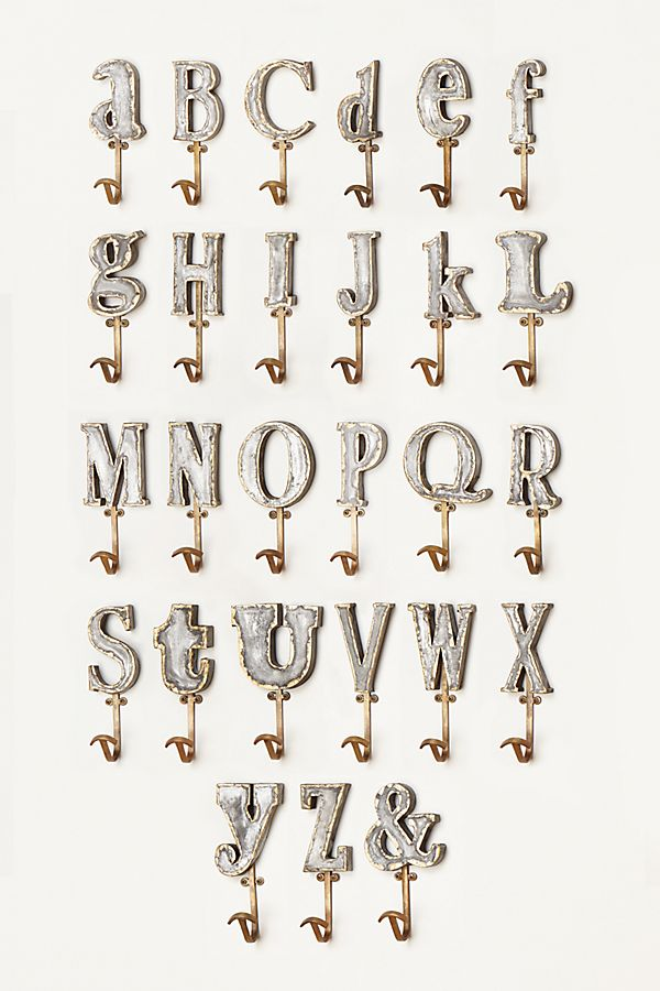Marquee Letter Hook $18.00