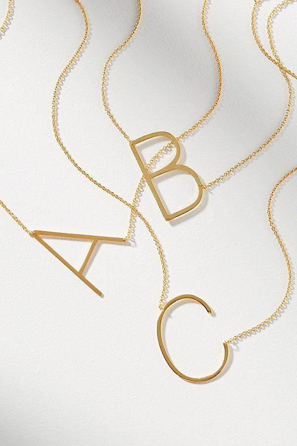Block Letter Monogram Necklace $38.00