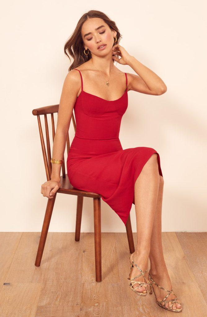 Isabel Sheath Dress REFORMATION $138.60