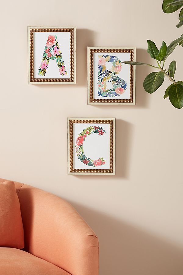Floral Monogram Wall Art $148.00