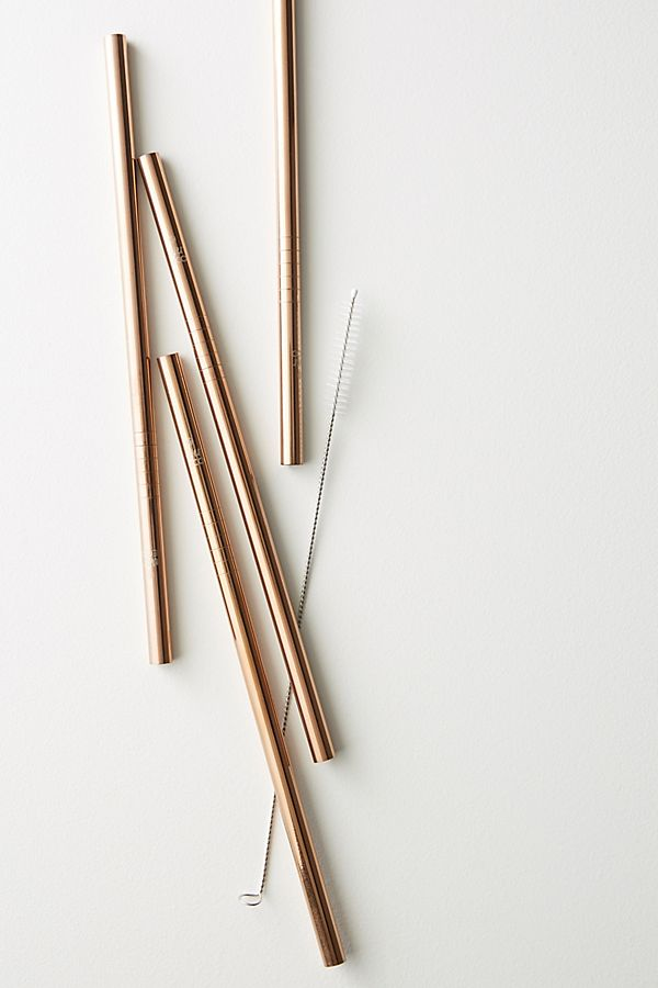 Ever Eco 4-Pack Rose Gold Straws $19.00