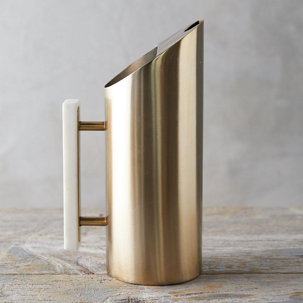 Brass + Marble Pitcher $88.00