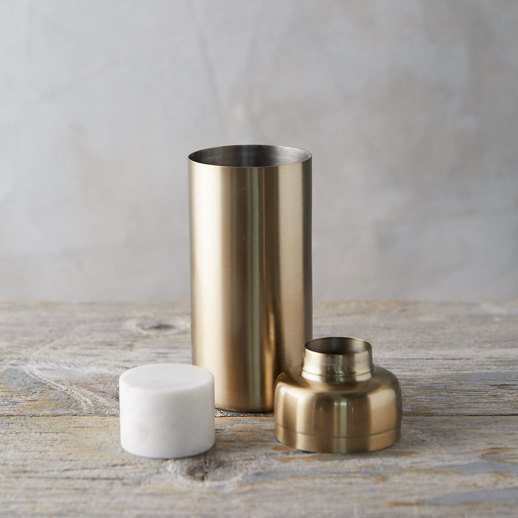 Brass + Marble Cocktail Shaker $68.00