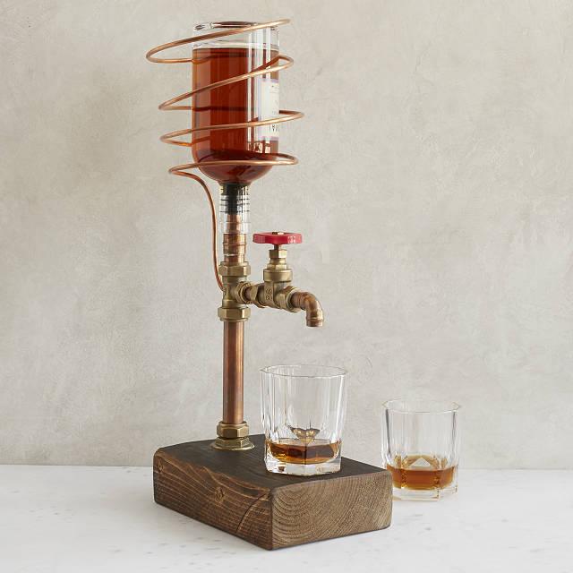 Industrial Brass & Copper Drink Dispenser $160.00
