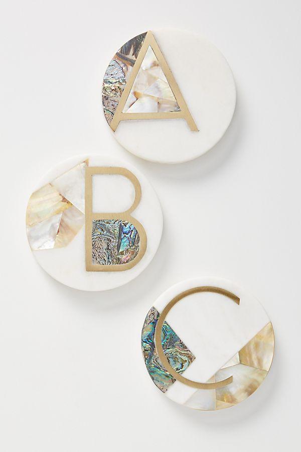 Marina Monogram Coaster $14.00