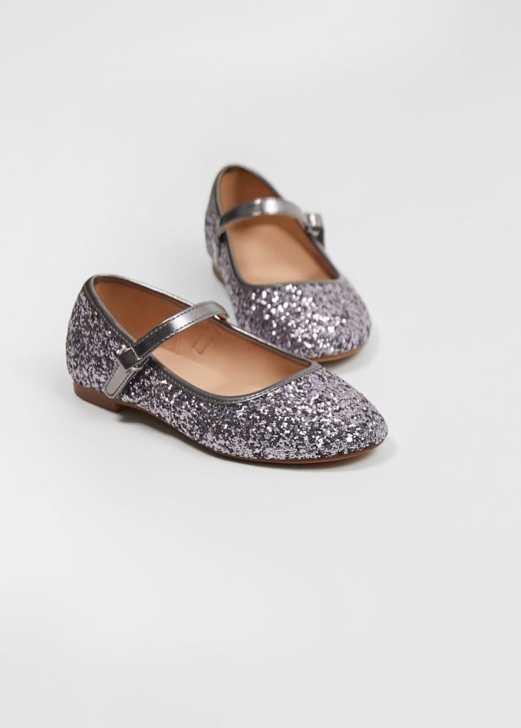Glitter lace-up ballerinas $29.99