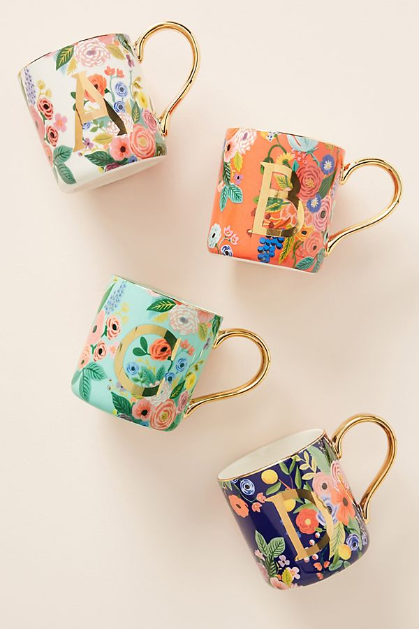 Rifle Paper Co. for Anthropologie Garden Party Monogram Mug $14.00