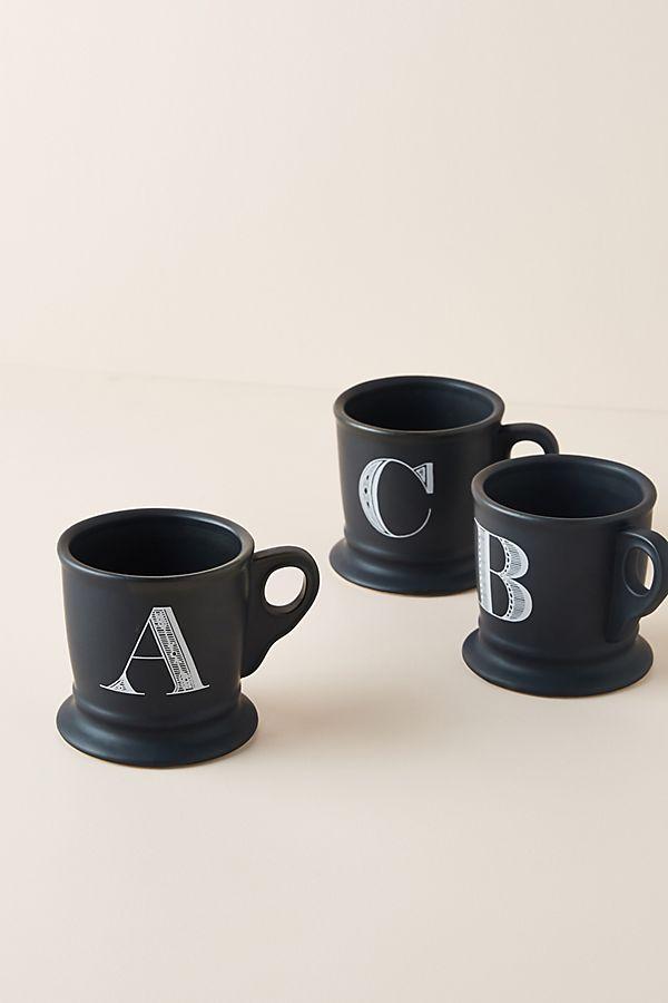 Noir Monogram Mug $10.00