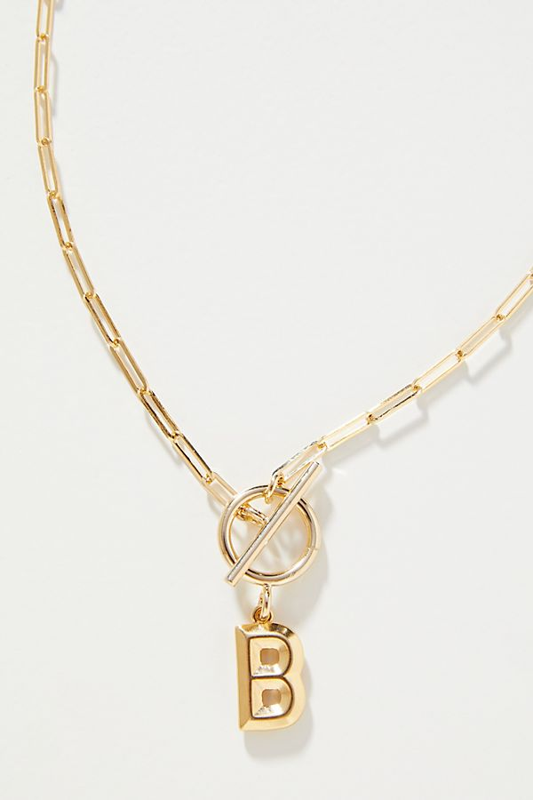 Chain Link Monogram Necklace $38.00