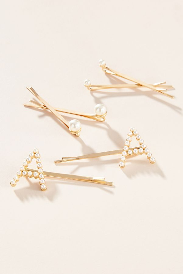 Monogram Pearl Bobby Pin Set $24.00