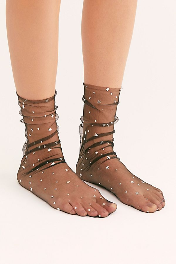 Starry Night Sheer Slouch Socks $40.00