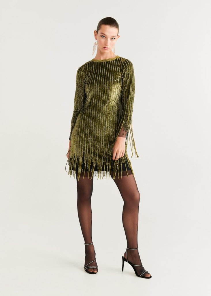 Sequins fringed dress $299.99