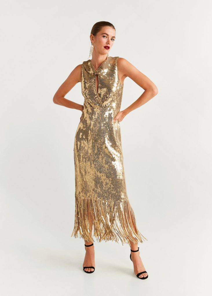 Sequins fringed dress $199.99
