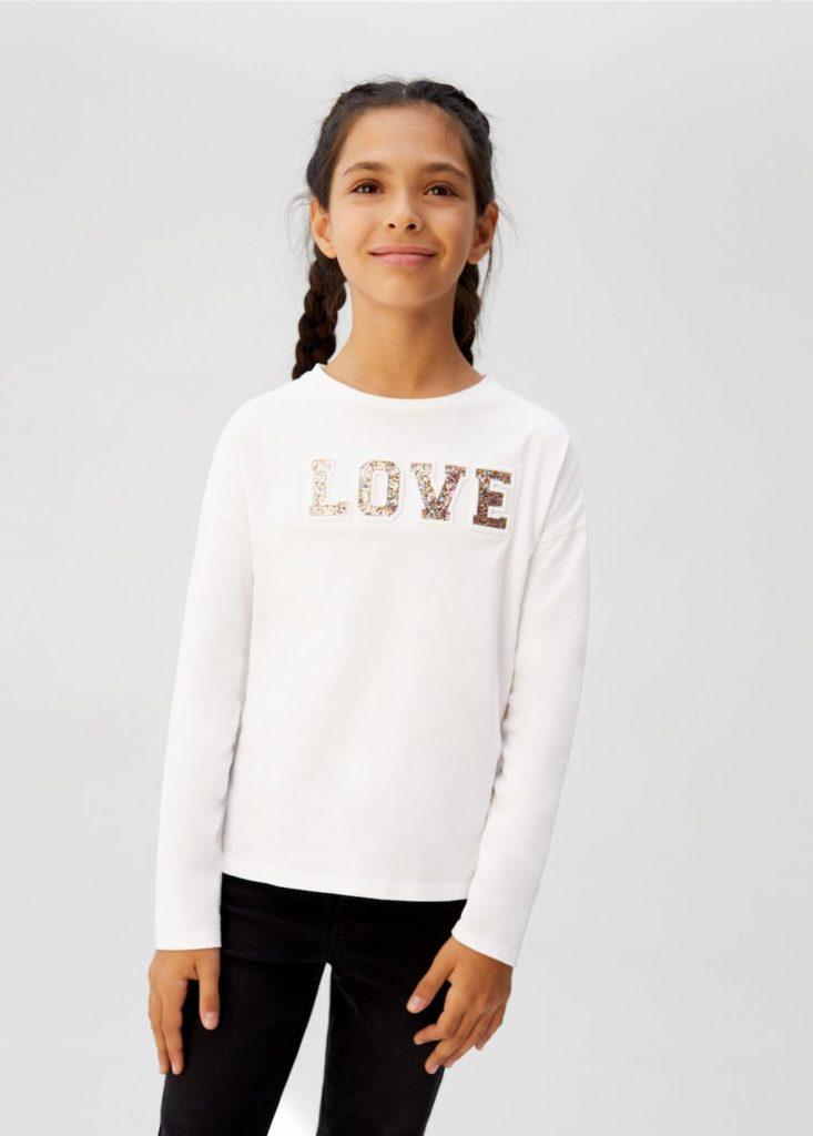 Glitter embossed message t-shirt $12.99