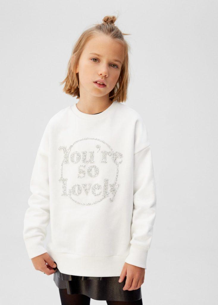 Crystals message cotton sweatshirt $35.99