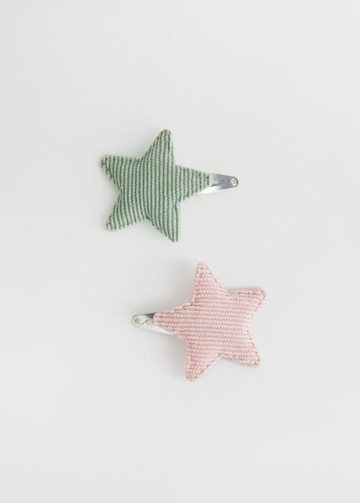 Corduroy stars clips set $7.99