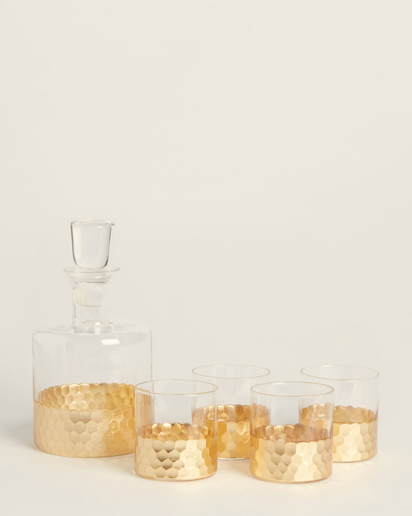 5-Piece Gold Daphne Whiskey Set $39.99