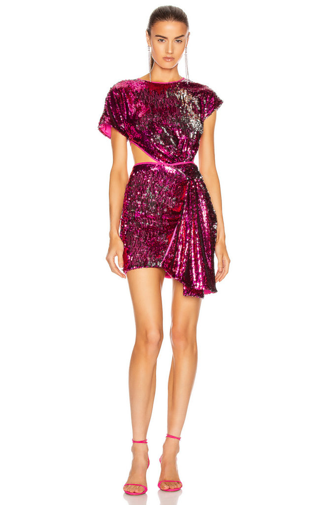 ALICE MCCALL Electric Orchid Mini Knot Dress $450