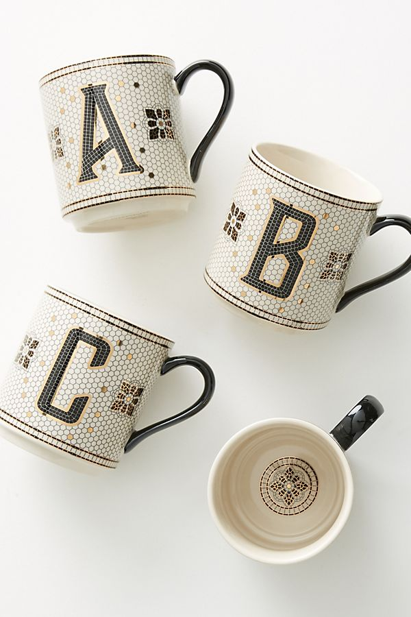 Tiled Margot Monogram Mug $12.00
