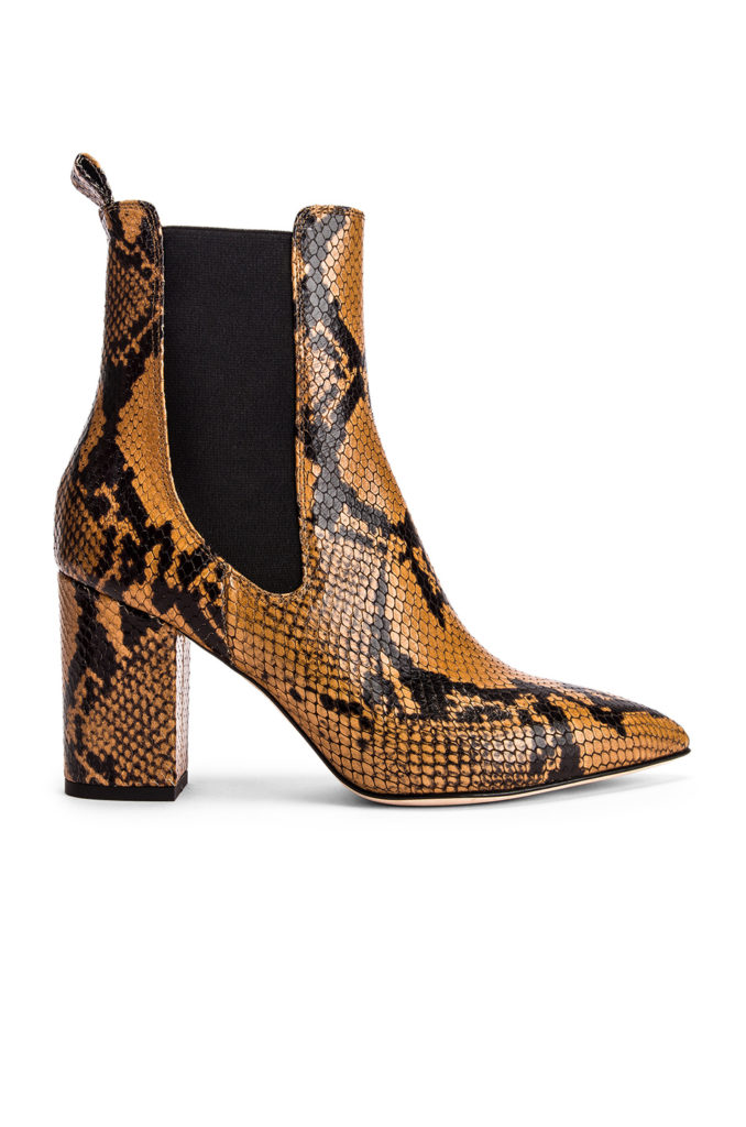 PARIS TEXAS Python Print Ankle Boot $565