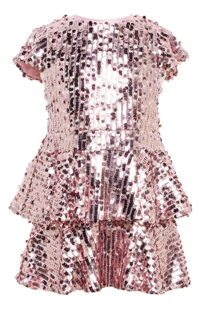 Leila Tiered Sequin Dress $94.99