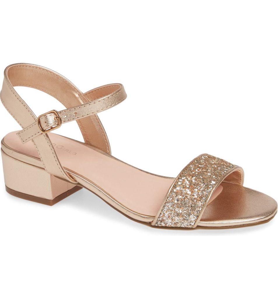 Hilary Metallic Sandal $55.00