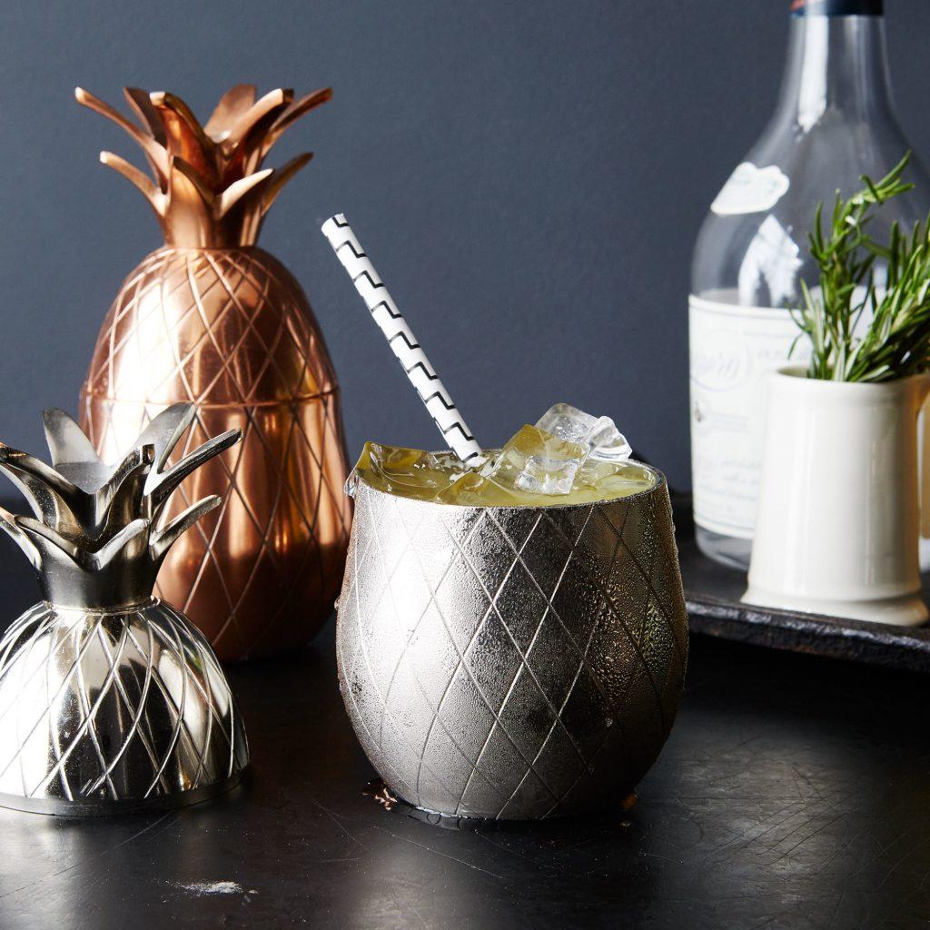 Metallic Pineapple Tumbler $35