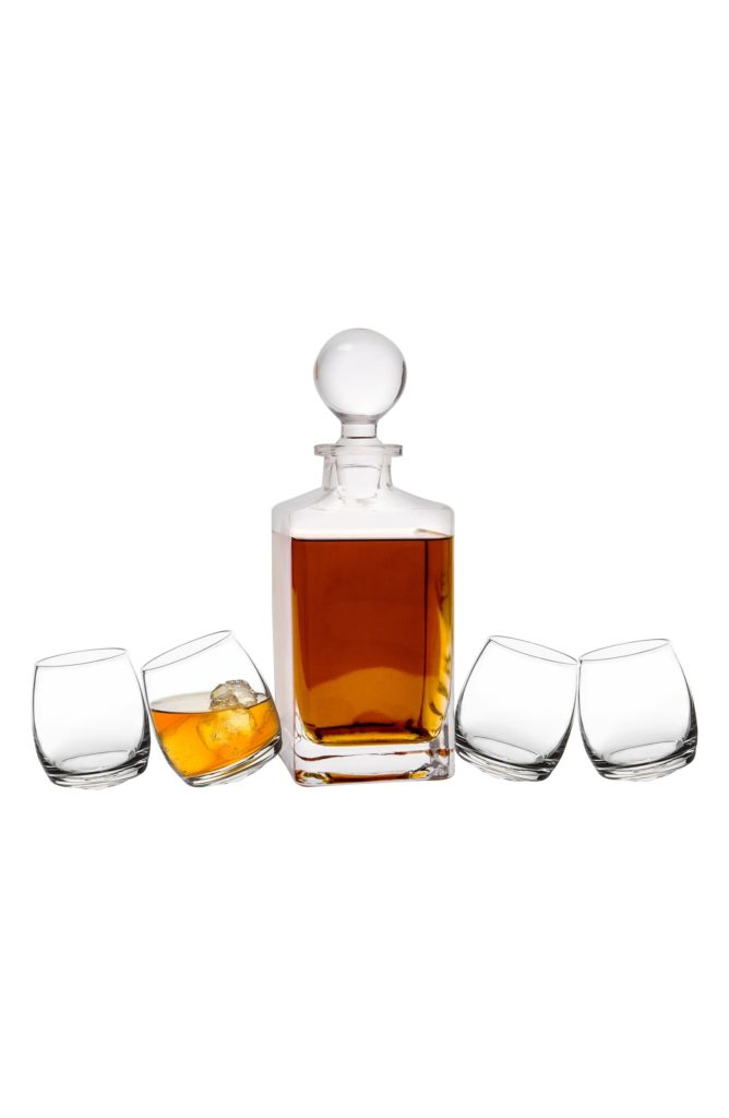 Tipsy Whiskey 5-Piece Decanter Set CATHY