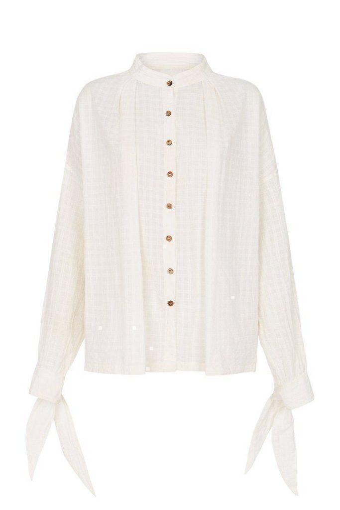 Celcius Shirt Cream Weave CARLIE BALLARD $120.00