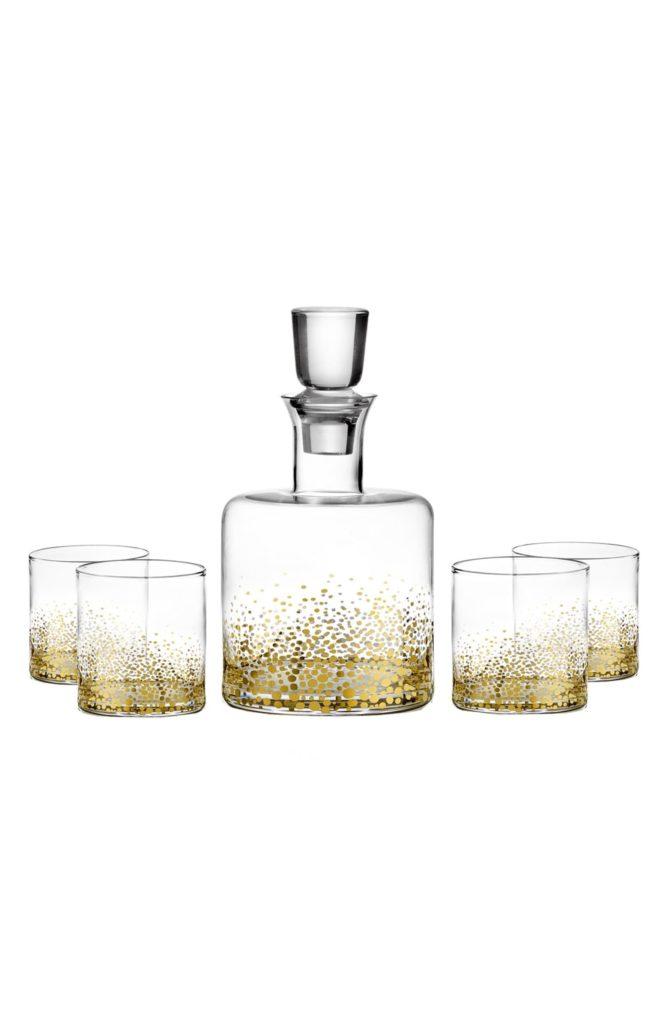 'Daphne' Decanter & Whiskey Glasses AMERICAN ATELIER $45.00